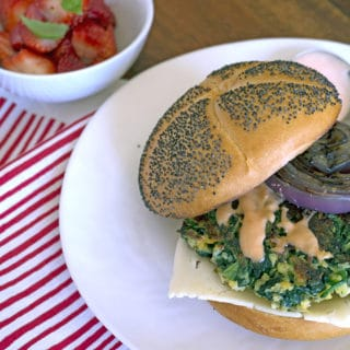 Popeye Spinach Burgers with Thousand Island Dressing