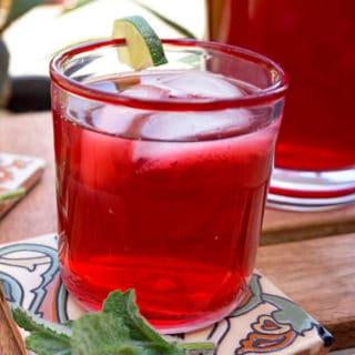 Hibiscus-Lime Iced Tea