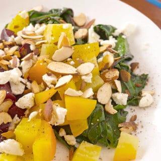 Warm Beets & Greens Salad