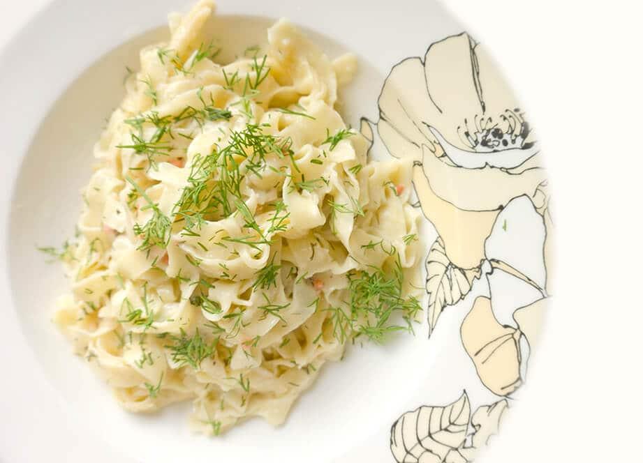 Dillicious Smoked Salmon Pasta | Recipe at OatandSesame.com