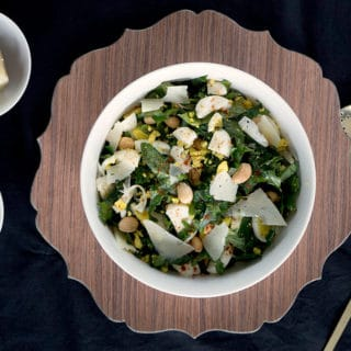 Kale Salad with Manchego & Marcona Almonds