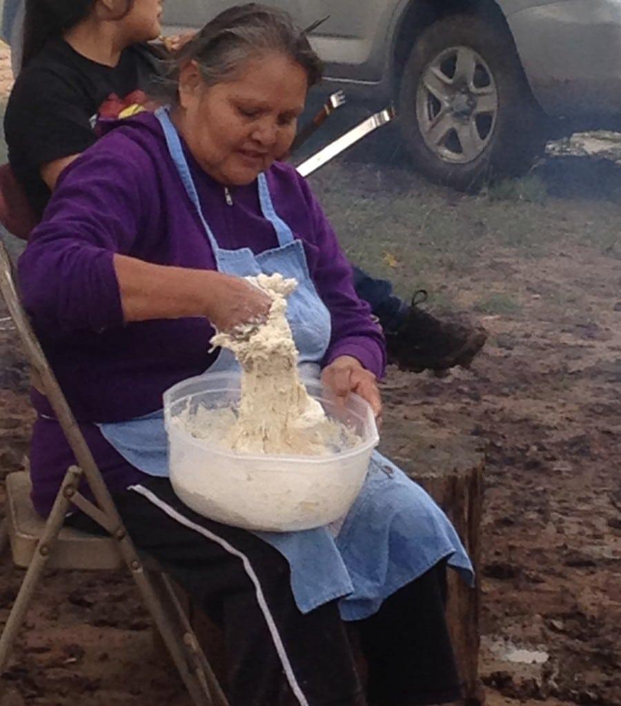 woman making fry bread