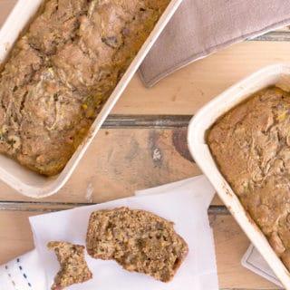 Whole Wheat Zucchini Walnut Bread