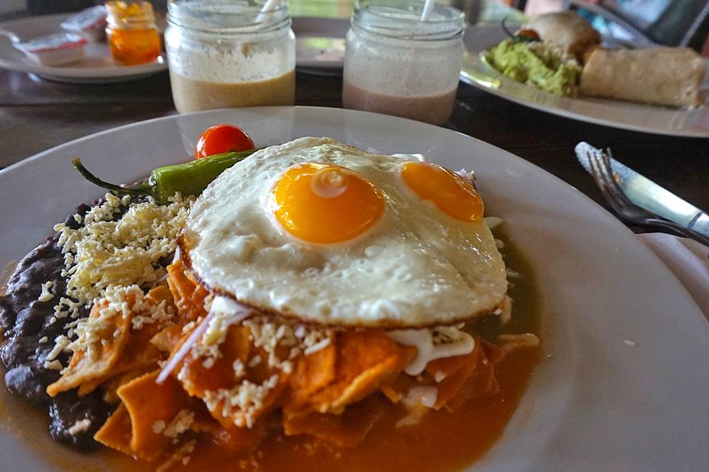 Chilaquiles - breakfast at ZIggy's, Tulum
