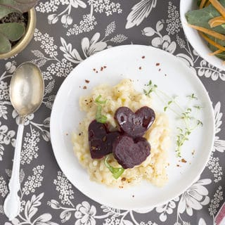 HeartBeet Risotto for Your Valentine