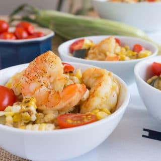 Shrimp, Zucchini and Sweet Corn Risotto