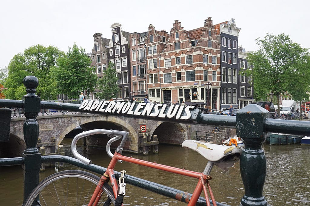 Amsterdam Canal with Bike