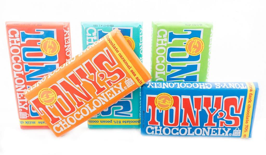Tony's Chocolate Bar Lineup