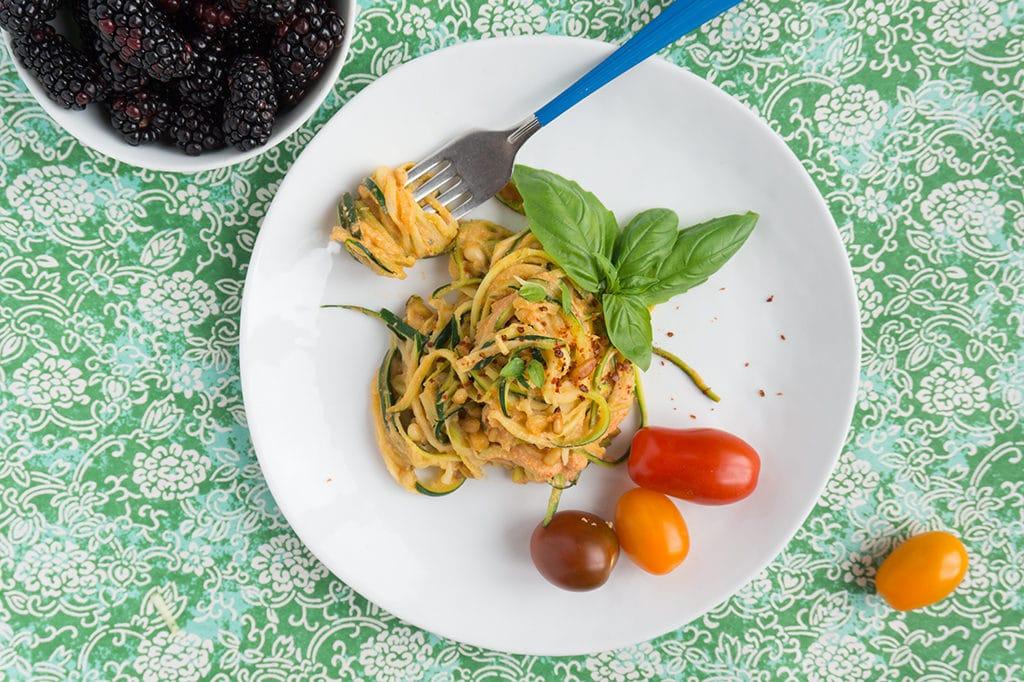 Zucchini Noodles overhead