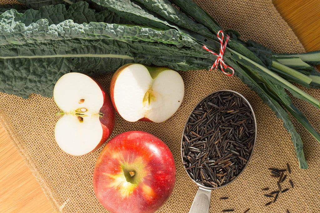 Wild Rice with Apples, Kale & Cider Vinaigrette