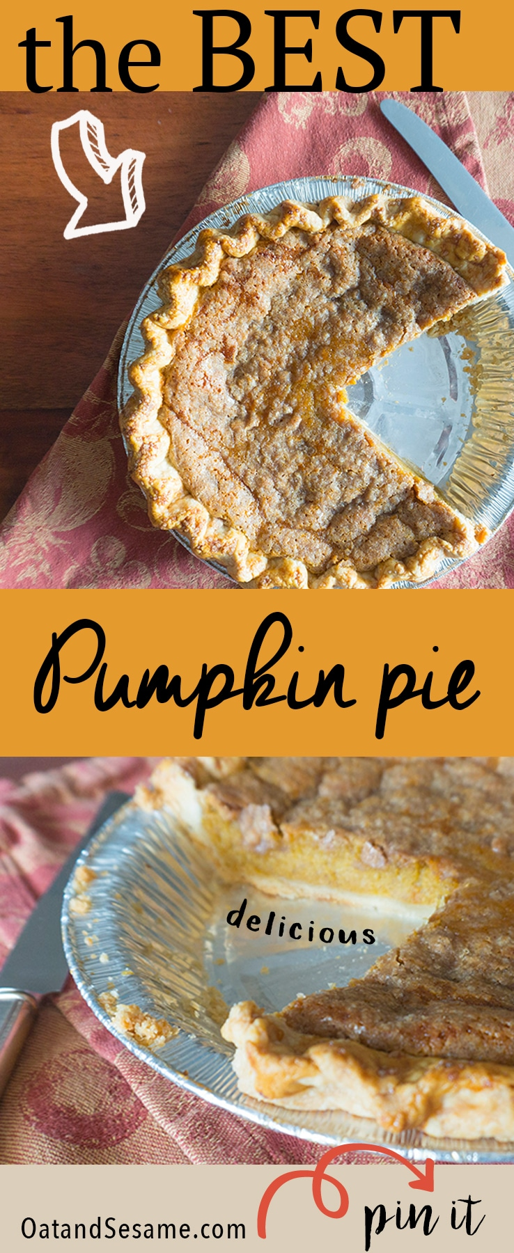 Your New FAVORITE PUMPKIN PIE - straight from baking class, comes this amazing pie that I just couldn't stop eating. Creamy and Perfectly Spiced then I opted to add a crumble top too!   #FALL   #BAKING   #THANKSGIVING   #PUMPKIN   #PIE   CRUST   #Recipes at OatandSesame.com