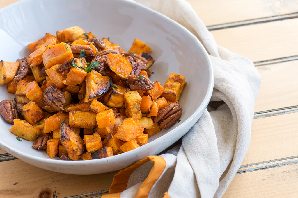 Maple Roasted Sweet Potatoes Food Network
