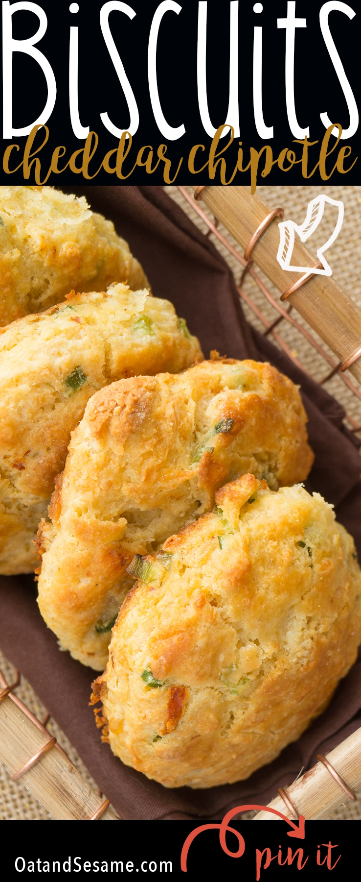 White Cheddar Chipotle Cornmeal Biscuits - Oat&Sesame