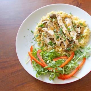 Chicken & Mushrooms with Balsamic Cream Sauce
