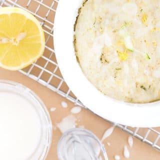 Lemon Zucchini Cake in 2 Minutes!