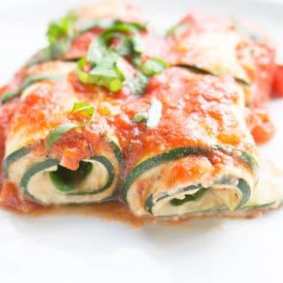Fresh + Light Zucchini Lasagna Roll Ups