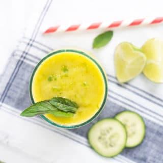 Refreshing Mango Cucumber Mint Smoothie