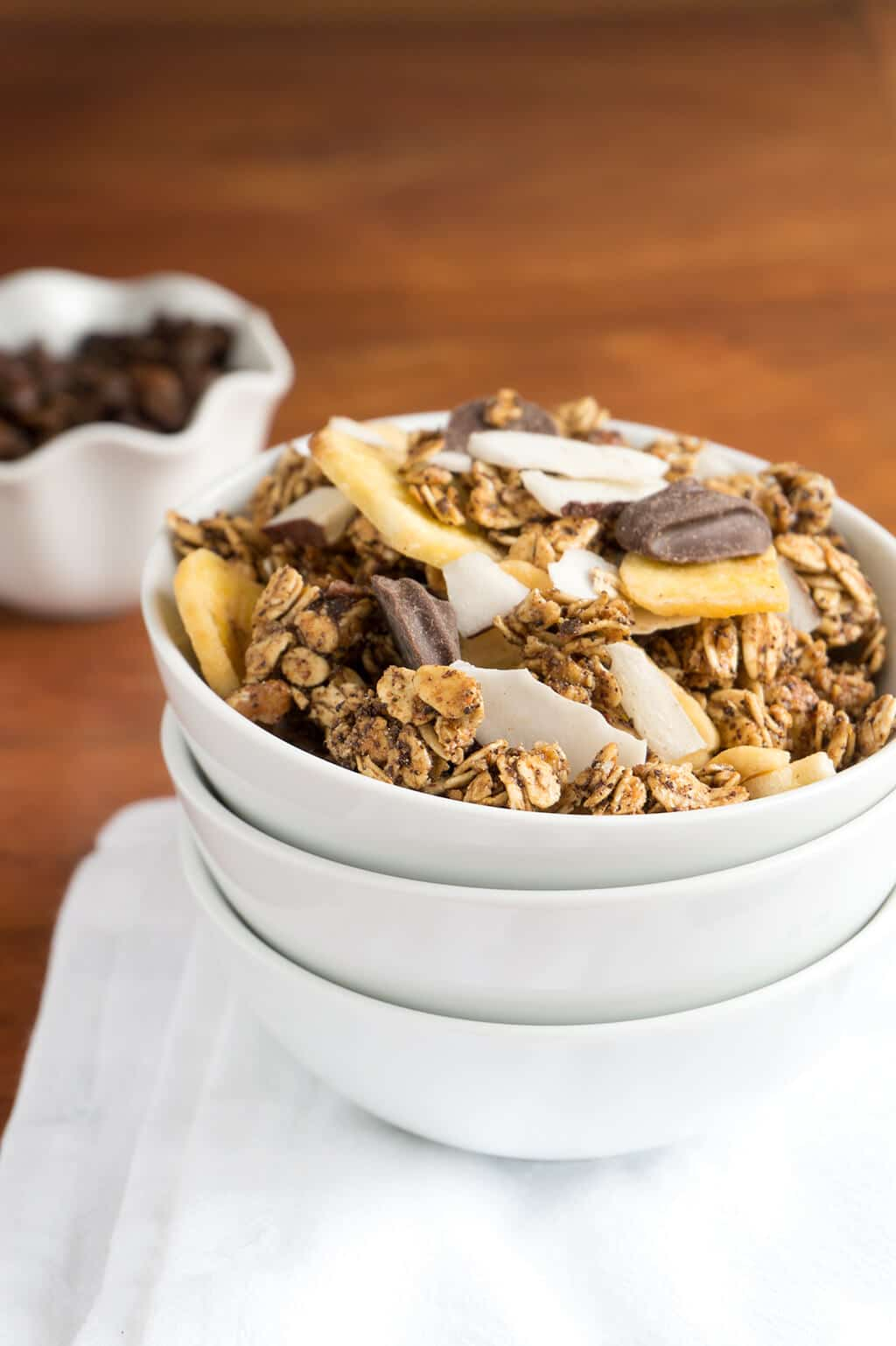 Coffee Granola Vertical - stacked bowls