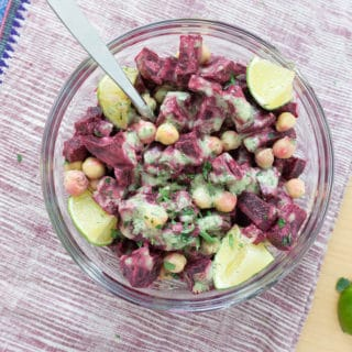 Beet & Chickpea Salad with Coconut Lime Dressing