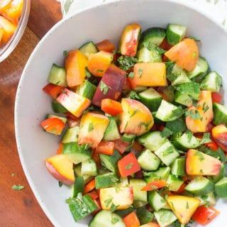 Peach Cucumber Salad