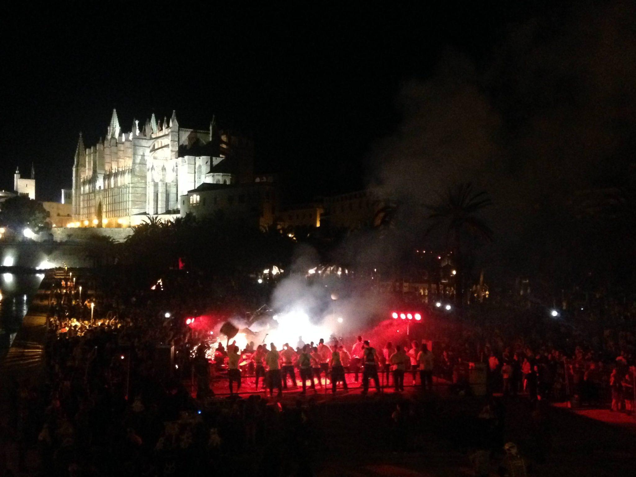 Royal Palace of La Almudaina at Night