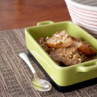 Baked Steel Cut Oats with Fruit Compote