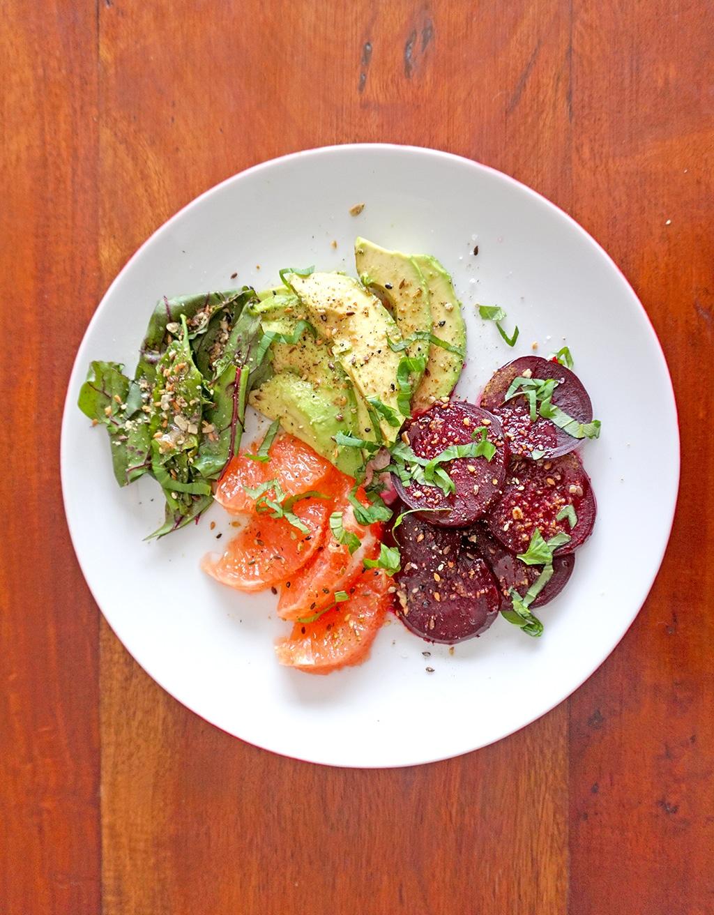 Beet, Citrus and Avocado Salad