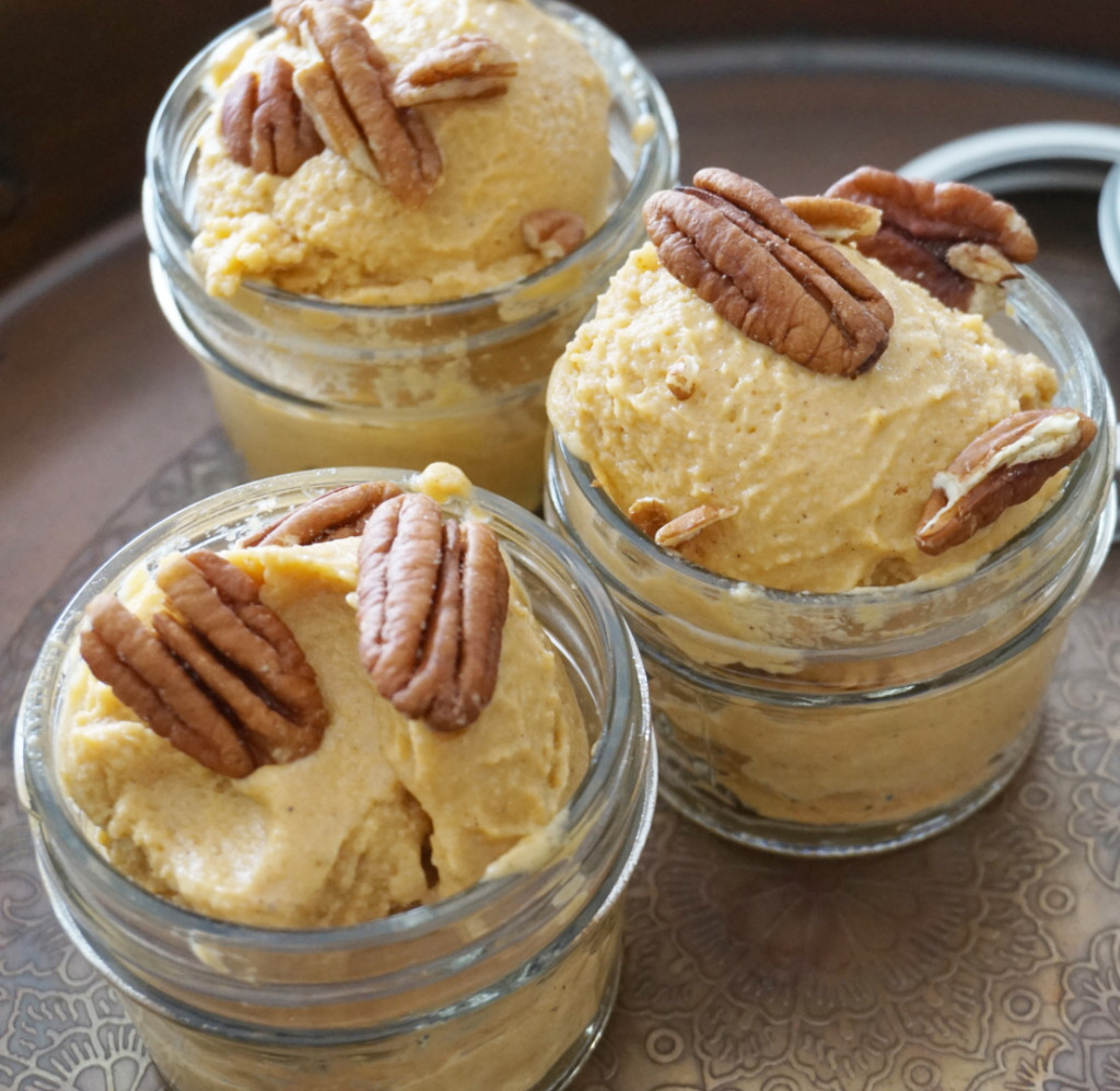 Sweet Potato Ice Cream in small serving jars
