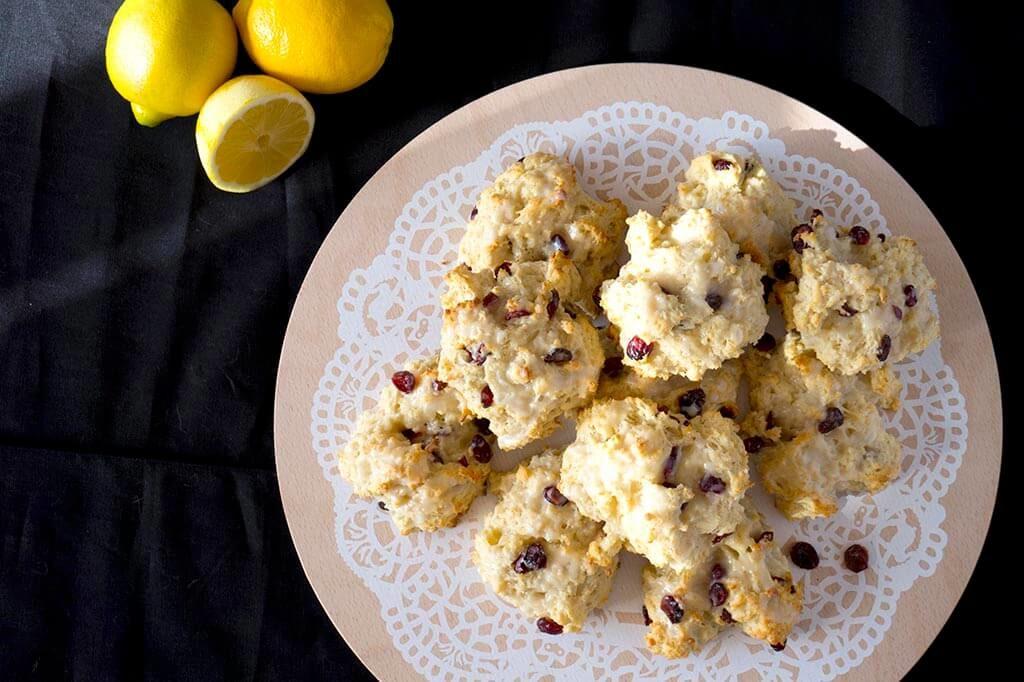 Lemon Cranberry Biscuits