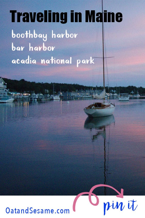 A trip along the coast of Maine, including stops in Boothbay Harbor, Bar Harbor and hiking adventures in Acadia National Park | #HIKING | #GET OUTDOORS | #MAINE | #TRAVEL at OatandSesame.com