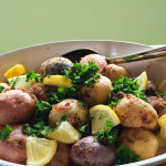 Red potato salad with parsley