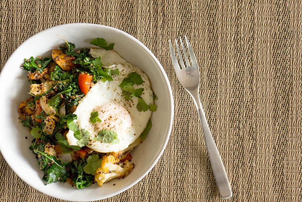 Quinoa Breakfast Hash overhead