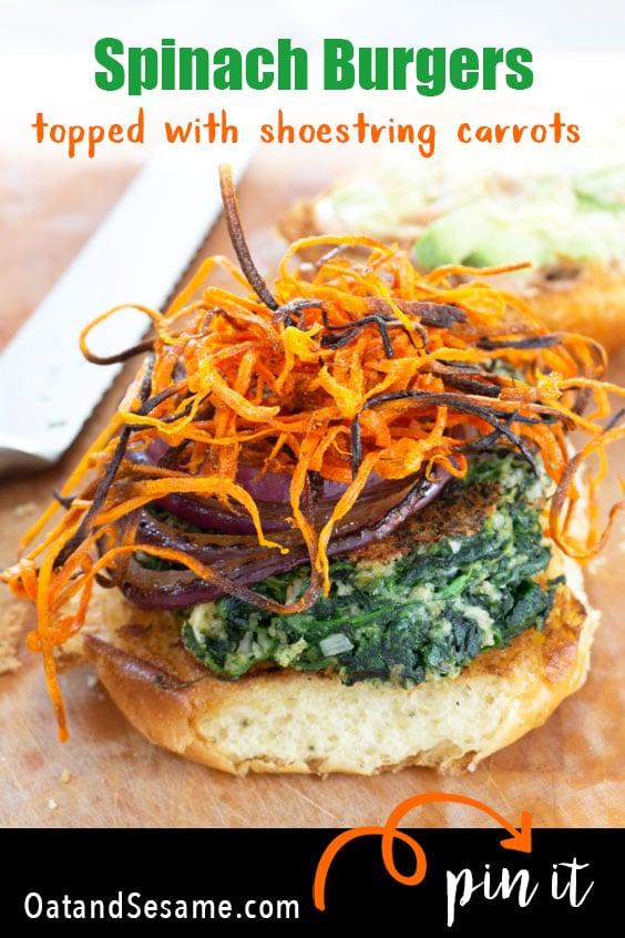 spinach burger on a bun