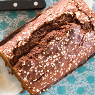 Chocolate Beet Loaf with Pearl Sugar