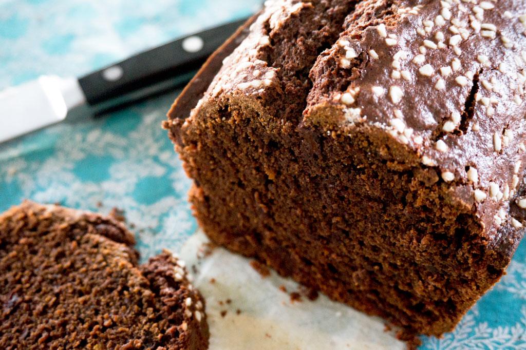 Chocolate Beet Loaf Sliced
