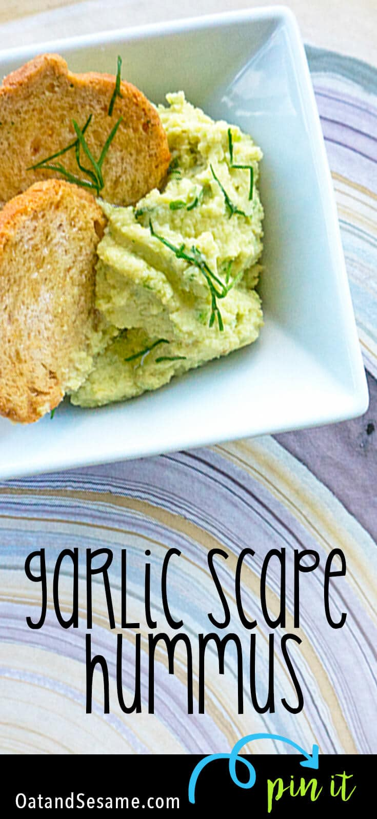 Hummus made with Garlic Scapes