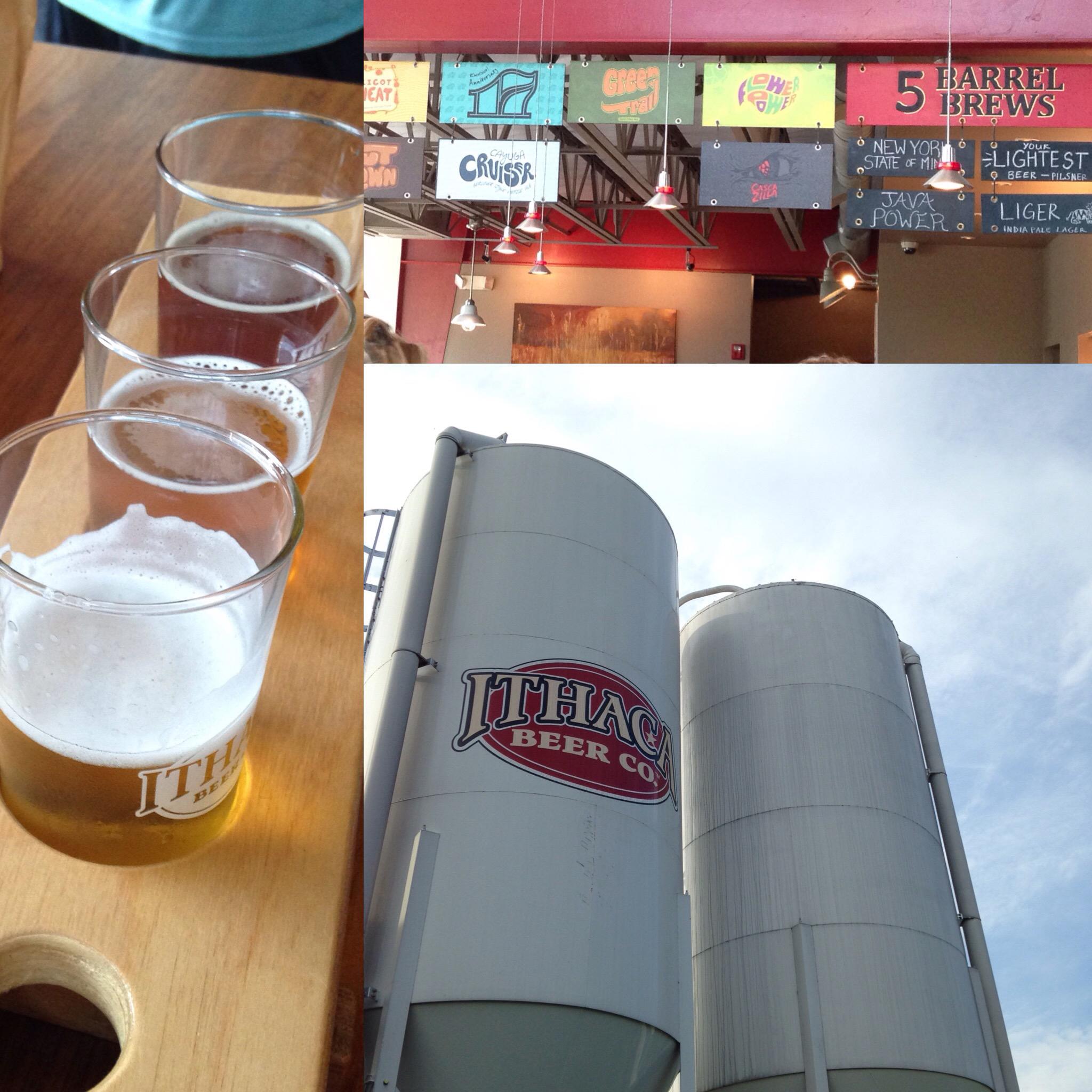 Ithaca Travel Post - Ithaca Beer Co. flight of beer