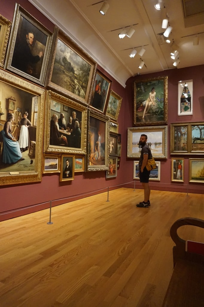 inside the art gallery