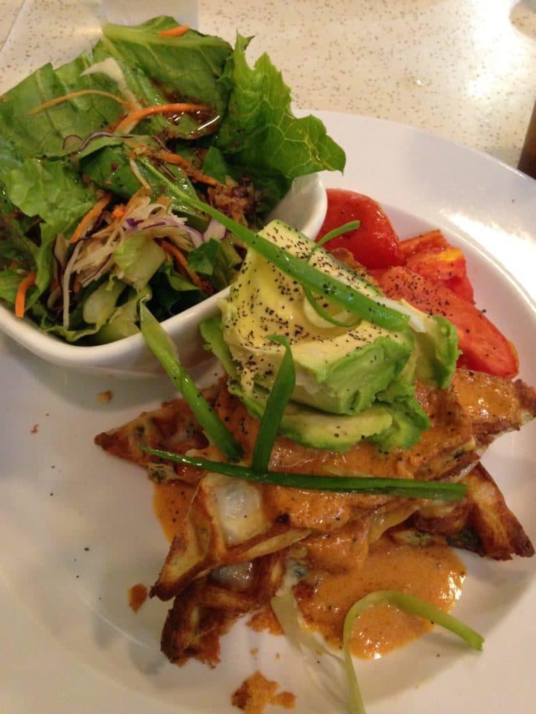 Cheddar & Spinach Waffles