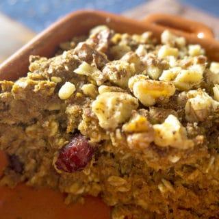 Baked Pumpkin Spice Oatmeal | gf + vegan