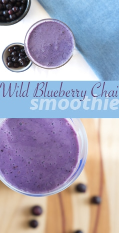 A Wild Blueberry Smoothie rich with Chai Spices | #SMOOTHIES | #BREAKFAST | #BLUEBERRIES | #Recipes at OatandSesame.com
