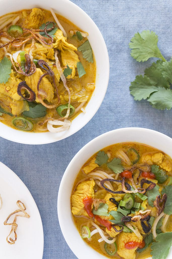 Curry Mee Noodle Soup - two bowls
