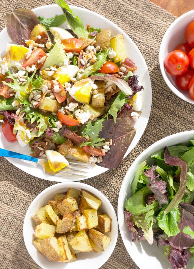 overhead breakfast salad
