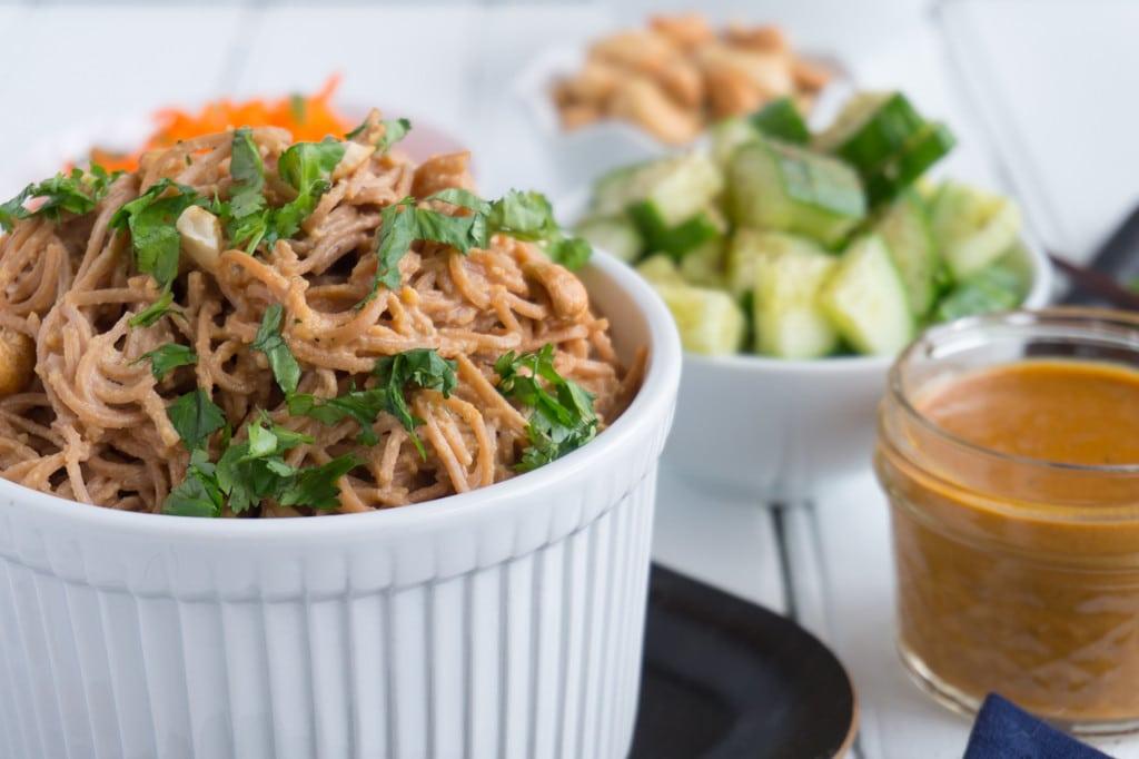 Cashew Noodle Salad in bowl