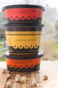 Stack of Roots Hummus flavors