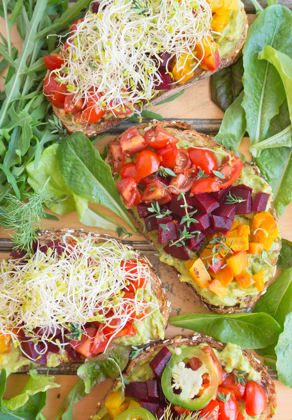 Beet & Avocado Open Faced Sandwiches