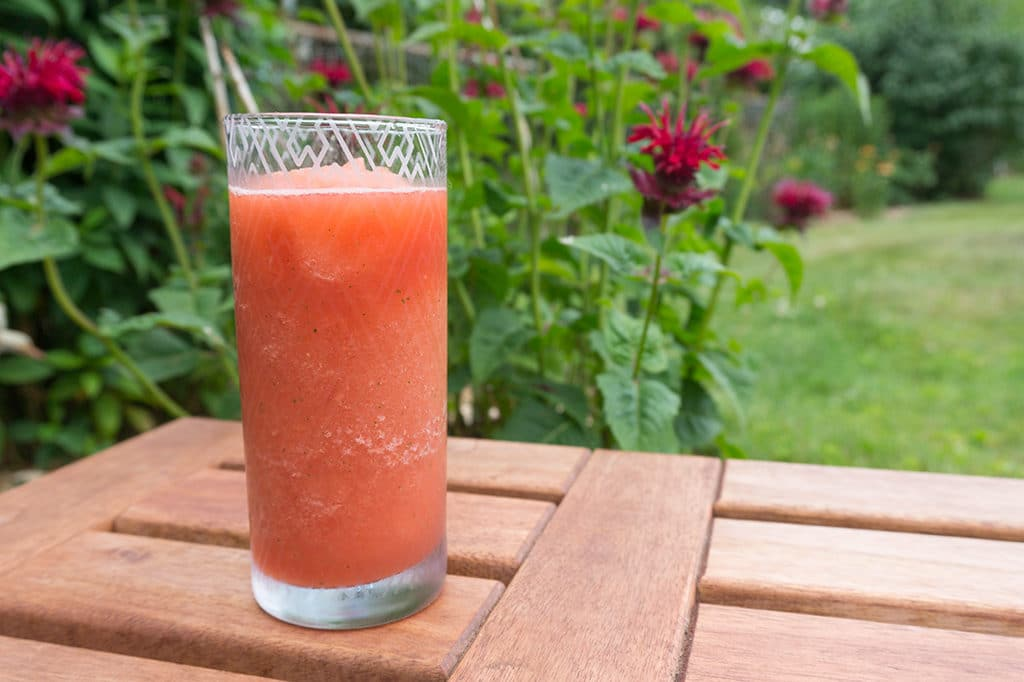 Mint Watermelon Agua Fresca in tall glass