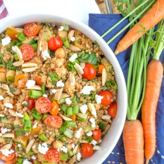 Turkish Bulgur Wheat Salad with Tomatoes and Cucumbers