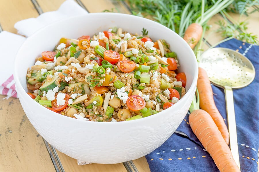 Turkish Bulgur Wheat Salad close up