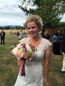 danielle, the bride